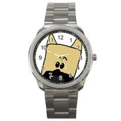 Peeping Fawn Great Dane With Docked Ears Sport Metal Watches