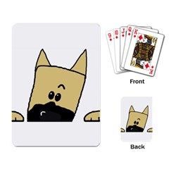 Peeping Fawn Great Dane With Docked Ears Playing Card