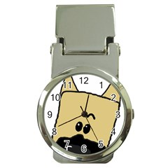 Peeping Fawn Great Dane With Docked Ears Money Clip Watches