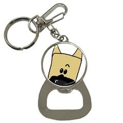 Peeping Fawn Great Dane With Docked Ears Bottle Opener Key Chains