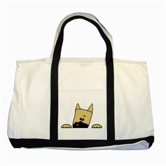Peeping Fawn Great Dane With Docked Ears Two Tone Tote Bag