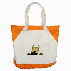 Peeping Fawn Great Dane With Docked Ears Accent Tote Bag