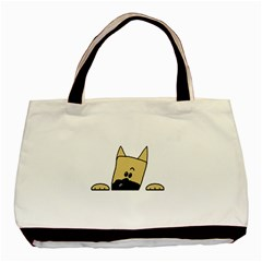 Peeping Fawn Great Dane With Docked Ears Basic Tote Bag (Two Sides)