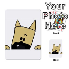 Peeping Fawn Great Dane With Docked Ears Multi-purpose Cards (Rectangle)
