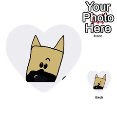 Peeping Fawn Great Dane With Docked Ears Multi-purpose Cards (Heart)