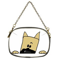 Peeping Fawn Great Dane With Docked Ears Chain Purses (Two Sides)