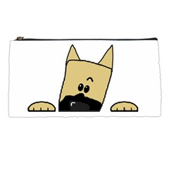 Peeping Fawn Great Dane With Docked Ears Pencil Cases