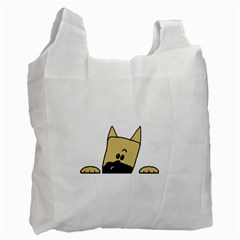 Peeping Fawn Great Dane With Docked Ears Recycle Bag (Two Side)