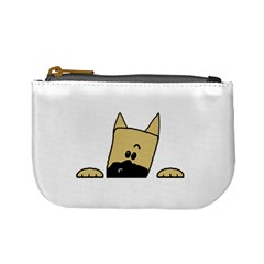 Peeping Fawn Great Dane With Docked Ears Mini Coin Purses