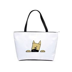 Peeping Fawn Great Dane With Docked Ears Shoulder Handbags