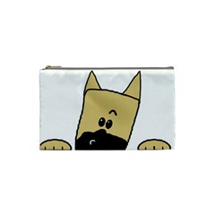 Peeping Fawn Great Dane With Docked Ears Cosmetic Bag (Small)
