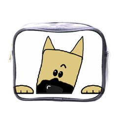 Peeping Fawn Great Dane With Docked Ears Mini Toiletries Bags