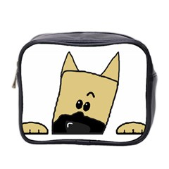 Peeping Fawn Great Dane With Docked Ears Mini Toiletries Bag 2-Side