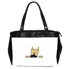 Peeping Fawn Great Dane With Docked Ears Office Handbags (2 Sides)