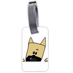 Peeping Fawn Great Dane With Docked Ears Luggage Tags (Two Sides)