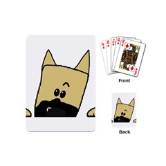 Peeping Fawn Great Dane With Docked Ears Playing Cards (Mini)