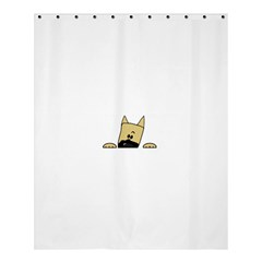 Peeping Fawn Great Dane With Docked Ears Shower Curtain 60  x 72  (Medium)