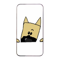 Peeping Fawn Great Dane With Docked Ears Apple iPhone 4/4s Seamless Case (Black)