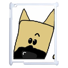 Peeping Fawn Great Dane With Docked Ears Apple iPad 2 Case (White)