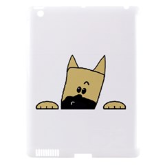 Peeping Fawn Great Dane With Docked Ears Apple iPad 3/4 Hardshell Case (Compatible with Smart Cover)