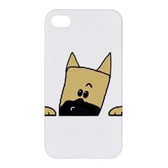 Peeping Fawn Great Dane With Docked Ears Apple iPhone 4/4S Premium Hardshell Case