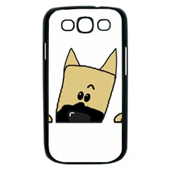 Peeping Fawn Great Dane With Docked Ears Samsung Galaxy S III Case (Black)