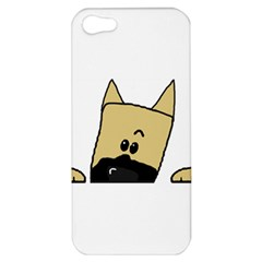 Peeping Fawn Great Dane With Docked Ears Apple iPhone 5 Hardshell Case