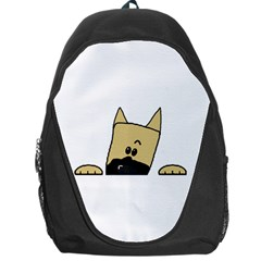Peeping Fawn Great Dane With Docked Ears Backpack Bag