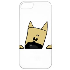 Peeping Fawn Great Dane With Docked Ears Apple iPhone 5 Classic Hardshell Case