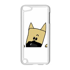 Peeping Fawn Great Dane With Docked Ears Apple iPod Touch 5 Case (White)