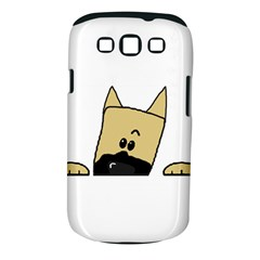 Peeping Fawn Great Dane With Docked Ears Samsung Galaxy S III Classic Hardshell Case (PC+Silicone)