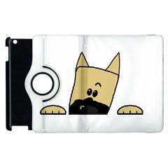 Peeping Fawn Great Dane With Docked Ears Apple iPad 2 Flip 360 Case