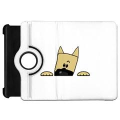 Peeping Fawn Great Dane With Docked Ears Kindle Fire HD Flip 360 Case