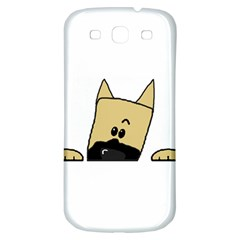 Peeping Fawn Great Dane With Docked Ears Samsung Galaxy S3 S III Classic Hardshell Back Case