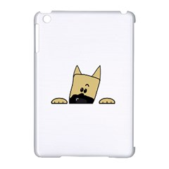 Peeping Fawn Great Dane With Docked Ears Apple iPad Mini Hardshell Case (Compatible with Smart Cover)
