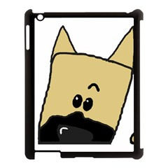Peeping Fawn Great Dane With Docked Ears Apple iPad 3/4 Case (Black)