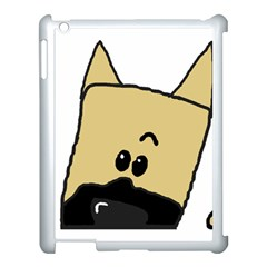 Peeping Fawn Great Dane With Docked Ears Apple iPad 3/4 Case (White)
