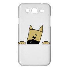 Peeping Fawn Great Dane With Docked Ears Samsung Galaxy Mega 5.8 I9152 Hardshell Case