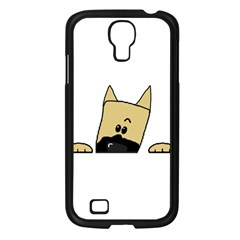 Peeping Fawn Great Dane With Docked Ears Samsung Galaxy S4 I9500/ I9505 Case (Black)