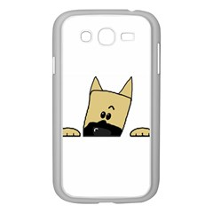 Peeping Fawn Great Dane With Docked Ears Samsung Galaxy Grand DUOS I9082 Case (White)