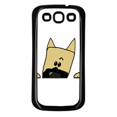 Peeping Fawn Great Dane With Docked Ears Samsung Galaxy S3 Back Case (Black)
