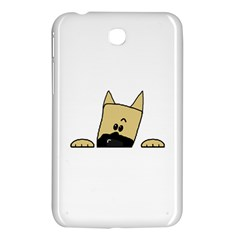 Peeping Fawn Great Dane With Docked Ears Samsung Galaxy Tab 3 (7 ) P3200 Hardshell Case