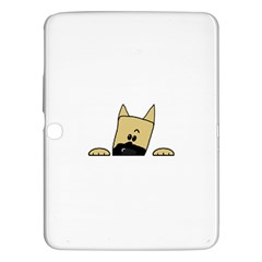 Peeping Fawn Great Dane With Docked Ears Samsung Galaxy Tab 3 (10.1 ) P5200 Hardshell Case