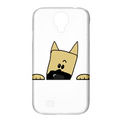 Peeping Fawn Great Dane With Docked Ears Samsung Galaxy S4 Classic Hardshell Case (PC+Silicone)