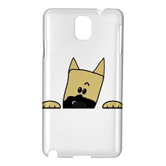 Peeping Fawn Great Dane With Docked Ears Samsung Galaxy Note 3 N9005 Hardshell Case