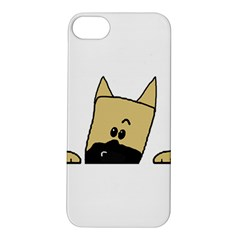 Peeping Fawn Great Dane With Docked Ears Apple iPhone 5S Hardshell Case