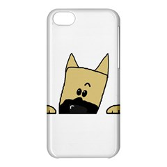Peeping Fawn Great Dane With Docked Ears Apple iPhone 5C Hardshell Case