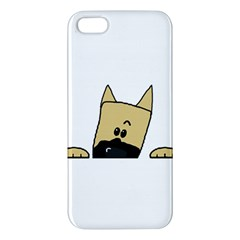 Peeping Fawn Great Dane With Docked Ears iPhone 5S Premium Hardshell Case