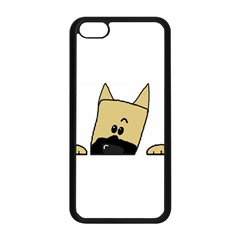 Peeping Fawn Great Dane With Docked Ears Apple iPhone 5C Seamless Case (Black)