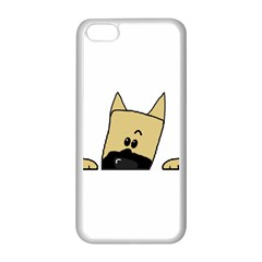 Peeping Fawn Great Dane With Docked Ears Apple iPhone 5C Seamless Case (White)